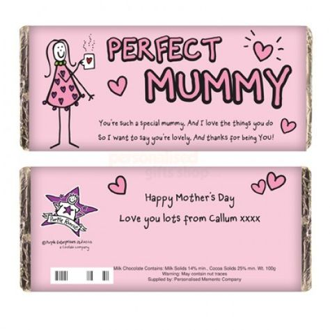Personalised Purple Ronnie Perfect Mummy Chocolate Bar  from Personalised Gifts Shop - ONLY £6.95