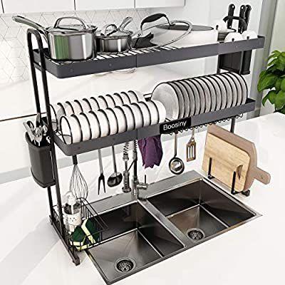 amazon com over sink dish drying rack
