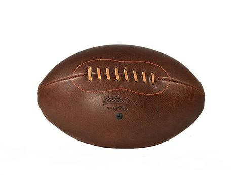Spalding Leather Football TF-Gold Varsity Top Grain Leather NFHS Approved Full Size Premium Football