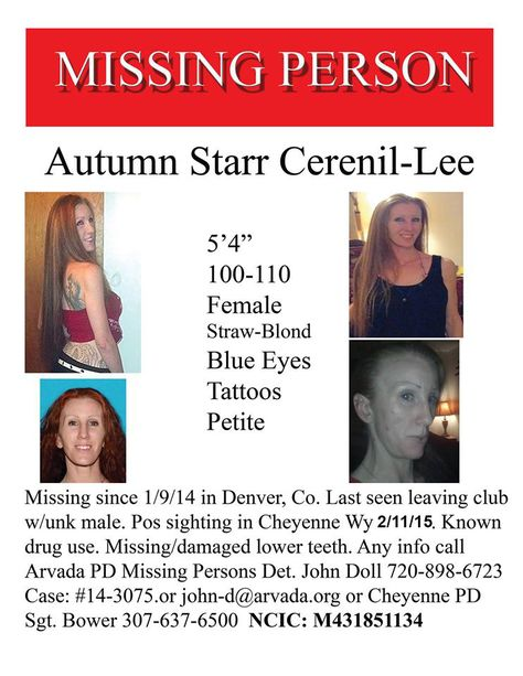 Except for Nancy Jo Scamurra, all are still missing MISSING - missing person flyer template