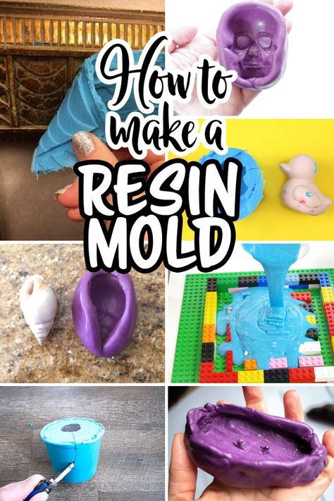 If you've ever wondered how to make a resin mold, this list of different types of DIY resin molds will help you find the best one for your next project. Diy Resin Mold, Diy Resin Art, Diy Silicone Molds, Diy Resin Crafts, Resin Molds, Diy Arts And Crafts, Diy Crafts To Sell, Resin Jewelry Molds, Diy Resin Projects