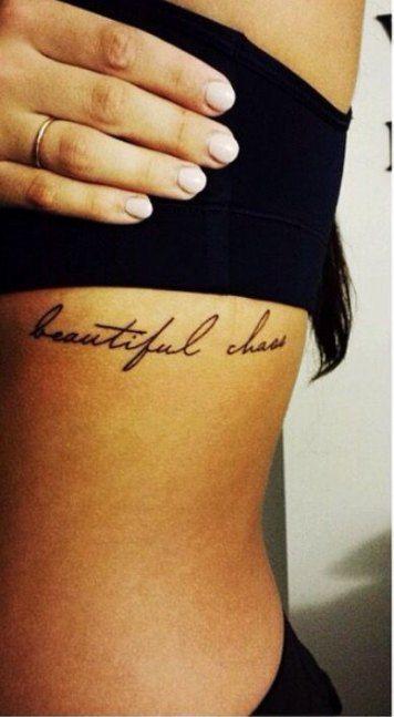 22 Trendy Tattoo Frauen Rippen Spruch Chaos Tattoo Trendy Tattoos Tattoo Fonts