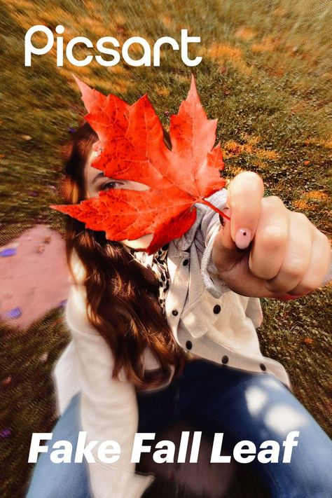 Don't be basic this Fall 🙅♀️🙅♂️🍂 Take your annual Fall leaves post to the next level in seconds with Picsart Stickers. All you need is your phone 📲