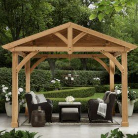 Backyard Discovery 12 X 10 Brookdale Gazebo With Electric Sam S Club
