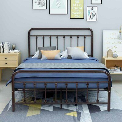 Rosalind Wheeler Mcdowell Platform Bed Colour Bronze Size Full