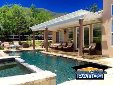 Alumawood Patio Cover By Southern California Patios Covered Patio Patio Backyard Bbq