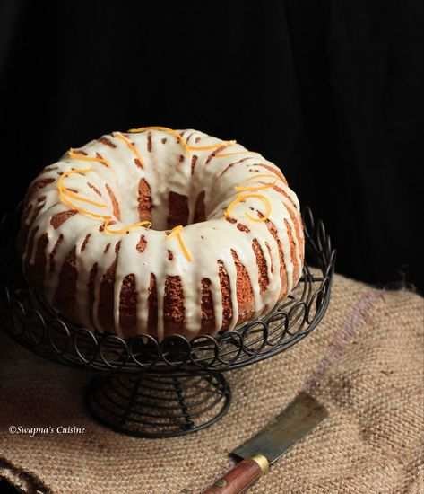 Cinnamon-Cardamom Cake with Maple Pecan Frosting - The
