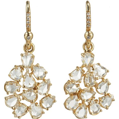 Irene Neuwirth Diamond Collection Diamond Mixed Shape Earrings at Barneys.com