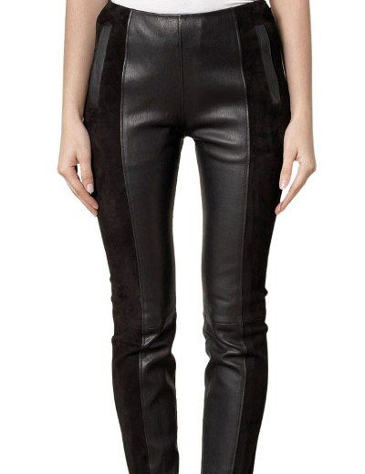 Siyah Seritli Bayan Deri Pantolon Modelleri Kadinlive Com Fashion Womens Fashion Leather Pants