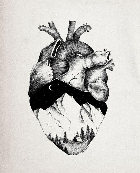 Mountain heart on Behance