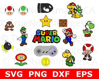 Mario Svg Super Mario Svg Super Mario Bros Svg Luigi Svg Suoer Mario Clipart Nintendo Svg Svg Files For Cricut Silh Svg Mario And Luigi Mario Bros