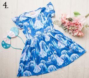 Girls Ice Queen Elsa Ruffle Sun Dress
