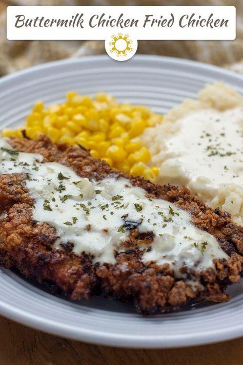 Creamy Buttermilk Chicken Fried Chicken Recipe Buttermilk