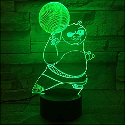 3d Nachtlicht Cartoon 3d Nachtlicht Kung Fu Panda Lampe 7 Farbwechsel Led Lampe Acryl Usb Beleuchtung Home Decor Geschenk Kinde In 2020 Led Lampe Nachtlicht Neonschild