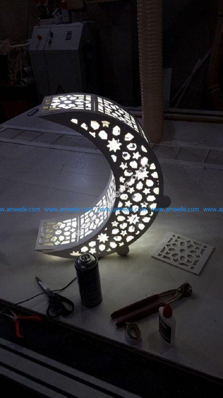 Crescent Moon Night Light Lamp Download Free Vector In 2020 Night Light Lamp Lamp Light Night Light