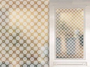 Fenstersichtschutzfolie Sandstrahl Milchig Im Klassischen Grunderzeit Sternenmotiv Fensterfolie Sichtschutzfolie Sandstrahlen