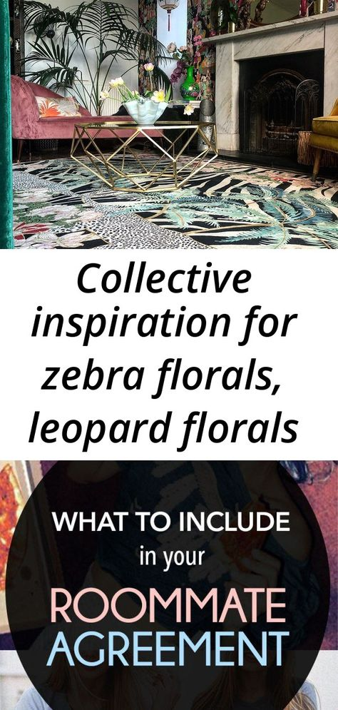 Collective inspiration for zebra florals, leopard florals and zebra leopard palms - wendy morrison d