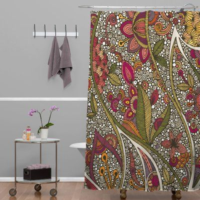 Haskell Boho Bouquet Single Shower Curtain Colorful Shower