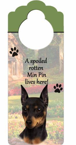 Warning Overly Affectionate Miniature Pinscher On Duty Wall Sign Min Pin Dog