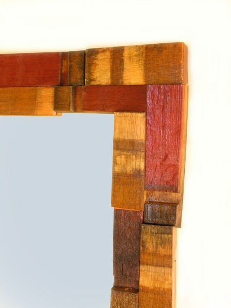 Assembled wood scrap.....think other materials as well metal......glass/mirror...tile....fabric