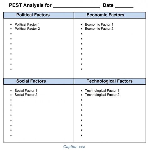 PEST Analysis Template Word 2007, 2010, 2013 Tool store and Template - pest analysis template word