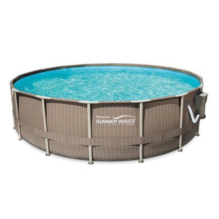 Summer Waves Elite 16ft Dark Basketweave Above Ground Pool With 1 500 Gph Filter Pump Walmart Com Summer Waves Above Ground Swimming Pools In Ground Pools