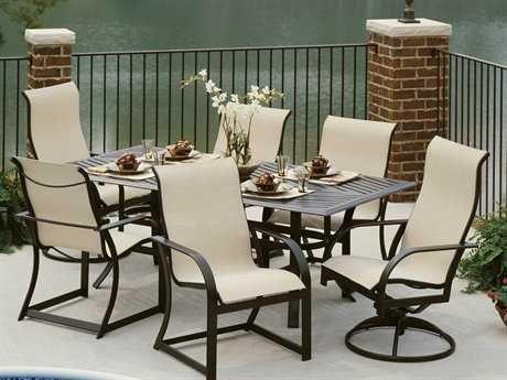 Winston Key West Sling Aluminum Dining Set In 2021 Farmhouse Dining Rooms Decor Diy Patio Furniture Cheap Modern Patio Furniture