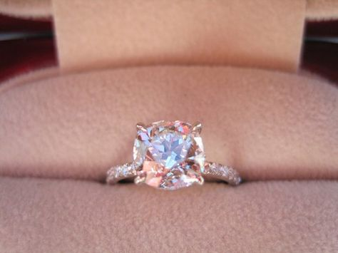 Love. Love. LOVE!!!! Cushion solitaire. big but beaut