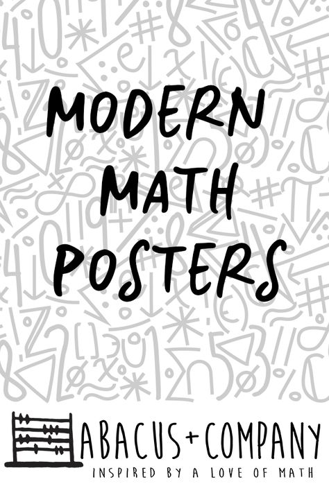 Abacus+Company has lots of math posters to choose from