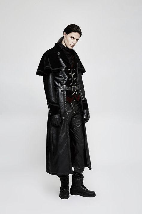 8 gothic mantel herrenideen  gothic mode kleidung mantel