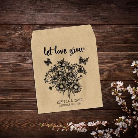 Seed Packet Wedding Favor, Seed Packet Favor, #seedpacketfavor #rusticwedding #flowerseedpacket #seedweddingfavor #weddingfavor #personalizedfavor #seedpackets #seedfavor #weddingseedfavor #seedenvelopes #letlovegrow #weddingfavorseeds #wildflowerseeds