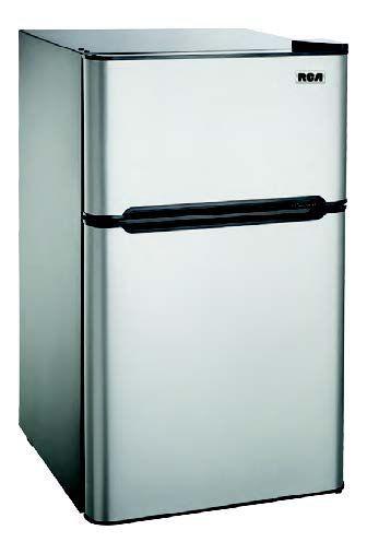4 5 Cu Ft Compact 2 Door Fridge Freezer Combination Stainless Steel Freezer 2 Door Fridge Fridge Freezers