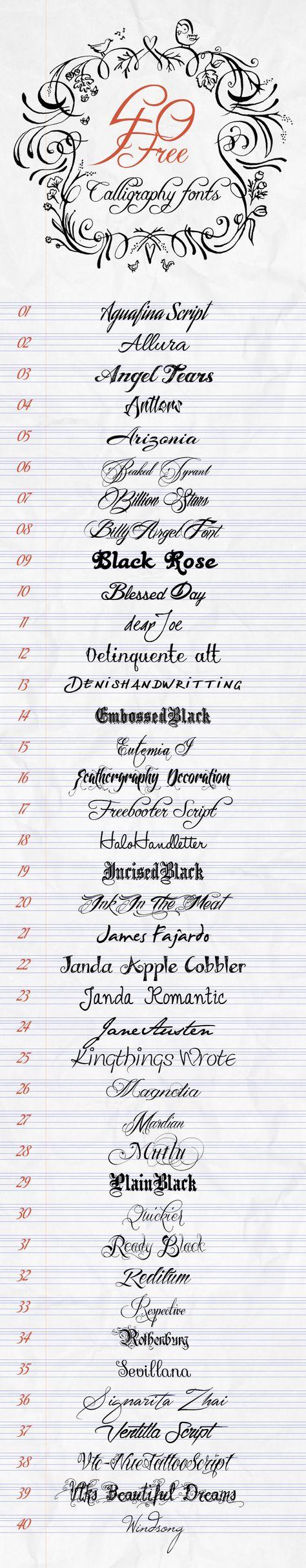 Free wedding calligraphy fonts