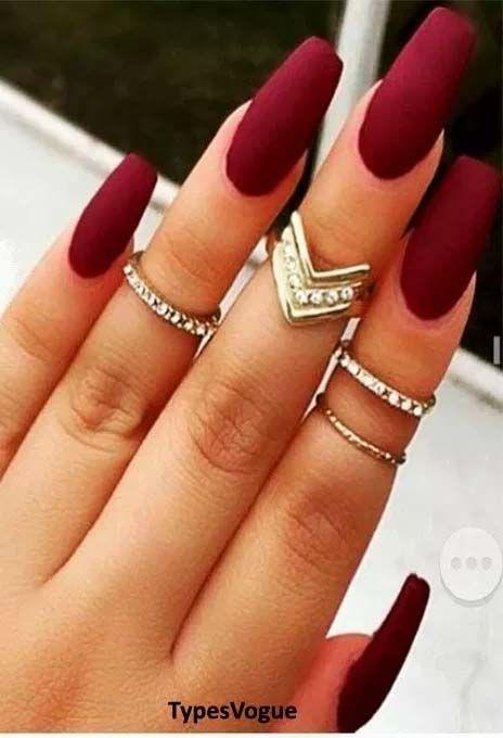 25 Fresh Cool Long Red Acrylic Nails Maroon Nails Burgundy Nails Trendy Nails