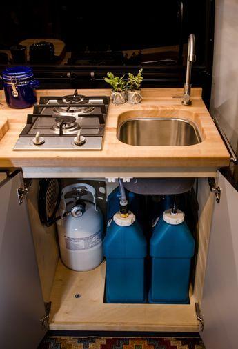 Vanlife Customs Van Conversion Sink and Water System