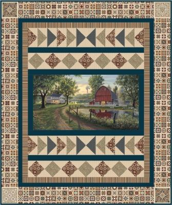 Homestead Quilt Pattern Ucq P62 Beautiful Quilts Made Using Heritage Quilting Fabric From Northcott Panel Quilt Patterns Panel Quilts Fabric Panel Quilts