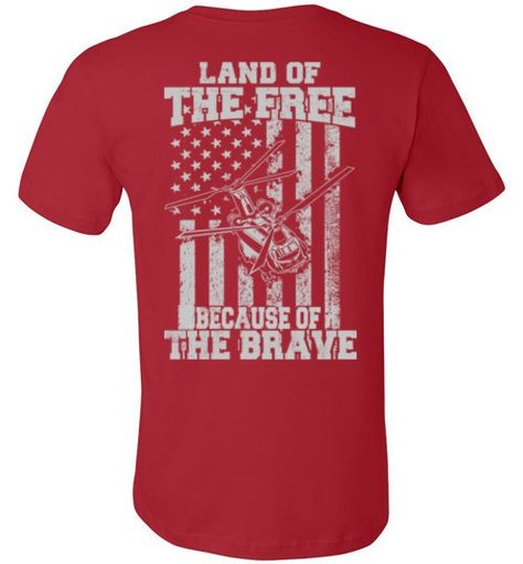 Because of the Brave - CH-47 Chinook - Premium Tee