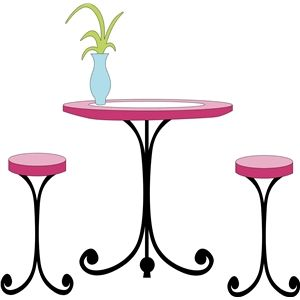 Fancy Table Stools Table Silhouette Design Stool