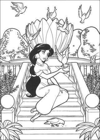 Aladdin Ausmalbilder Malvorlage Prinzessin Disney Prinzessin Malvorlagen Vogel Malvorlagen