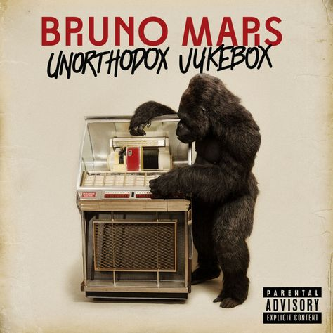 low album Bruno Mars doesn't do low stakes. He is a drama king a man who thrives on grand statements soap-opera plotlines and actual-opera melodrama. On his second album 'Unorthodox Jukebox' Rap Album Covers, Music Covers, Bedroom Wall Collage, Photo Wall Collage, Picture Wall, Poster Print, Poster Wall, Penguin Books