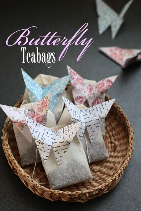 Bit Square Blog | Style, DIY, Refashioning, Jewellery: Origami Butterfly Teabags