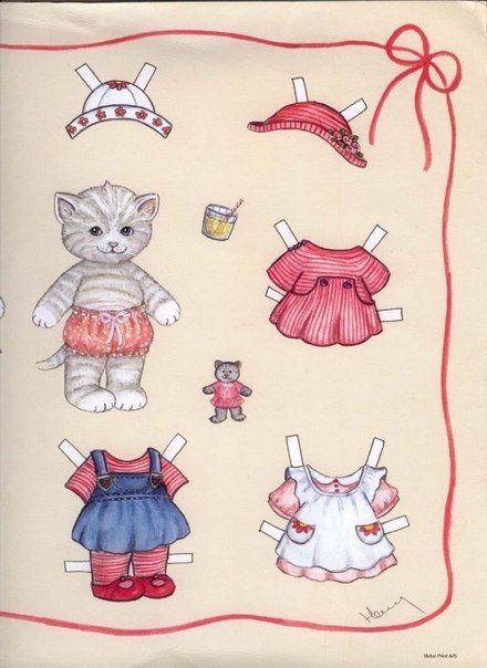 Photo of Бумажные куклы (животные)