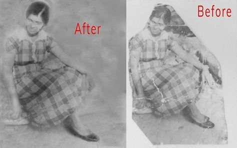 vintage An after and before look at a...