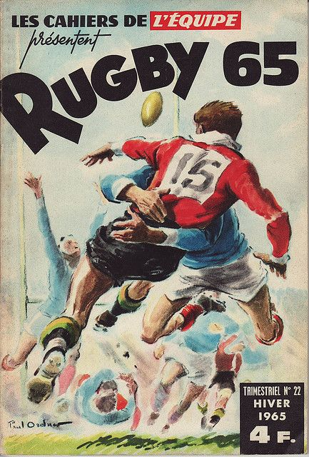 Another great piece of rugby artwork. Cahiers de l'Equipe Rugby 1965 by Frederic Humbert.