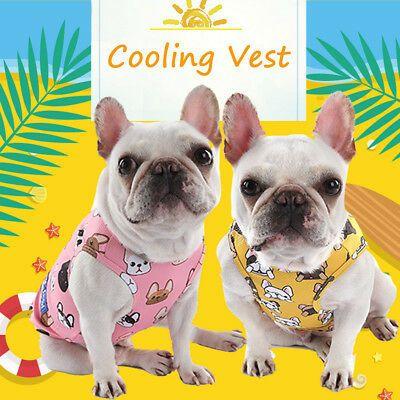 Pet Dog Cooling Vest Jacket Coat T Shirt Clothes Breathable Mesh W