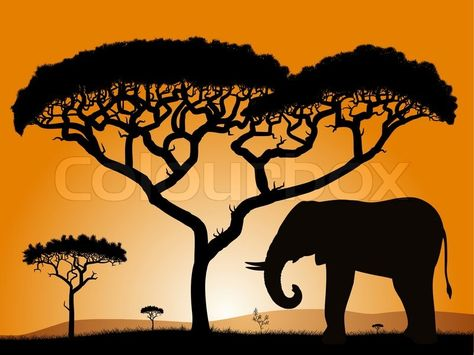 african elephant with baby silhouette wall decal kids pinterest