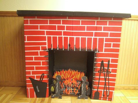 Cardboard fireplace and Vintage