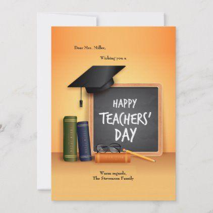 Happy Teacher 39 S Day Card Holidays Diy Custom Design Cyo Holiday Family In 2020 Happy Teachers Day Card Happy Teachers Day Teachers Day Card