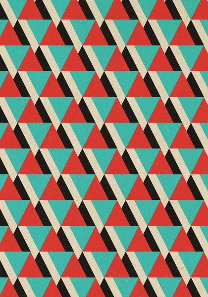Pattern Design - Retrospect, Triangle Duo, No. 04 Art Print, by Designer Ham on - CoDesign Magazine