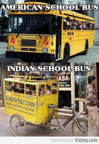 American Vs Indian School Bus Funny Pictures Magic School Bus